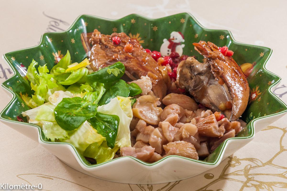 Photo de recette de perdrix, marrons, groseilles de  Kilomètre-0, blog de cuisine réalisée à partir de produits locaux et issus de circuits courts