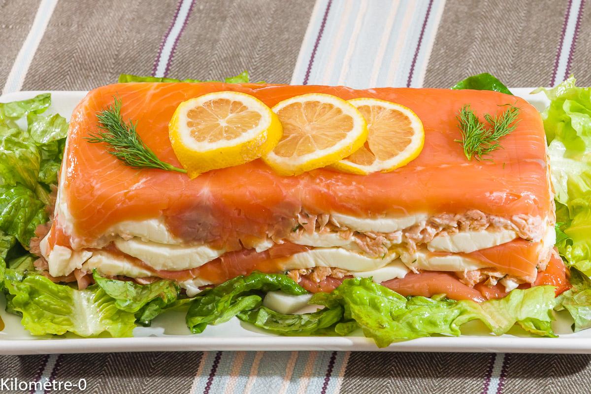 Photo de recette de truite fumée, mozzarella, saumon, de Kilomètre-0, blog de cuisine réalisée à partir de produits locaux et issus de circuits courts