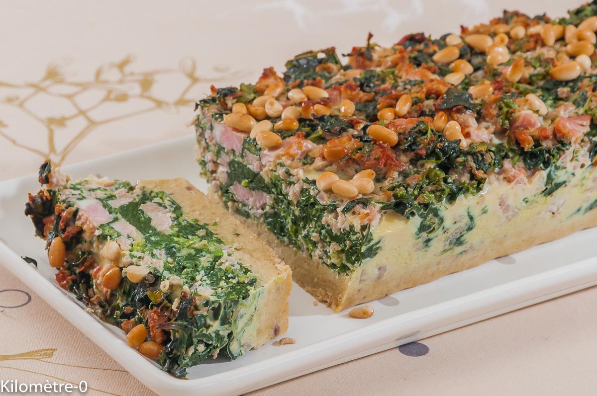 Photo de recette de terrine de jambon, épinards, facile, Kilomètre-0, blog de cuisine réalisée à partir de produits locaux et issus de circuits courts