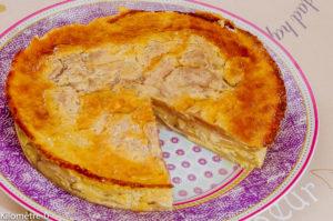 Photo de recette de gâteau invisible aux poires de Kilomètre-0, blog de cuisine réalisée à partir de produits locaux et issus de circuits courts