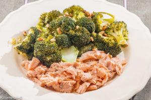 Photo de recette de saumon, brocolis de Kilomètre-0, blog de cuisine réalisée à partir de produits locaux et issus de circuits courts