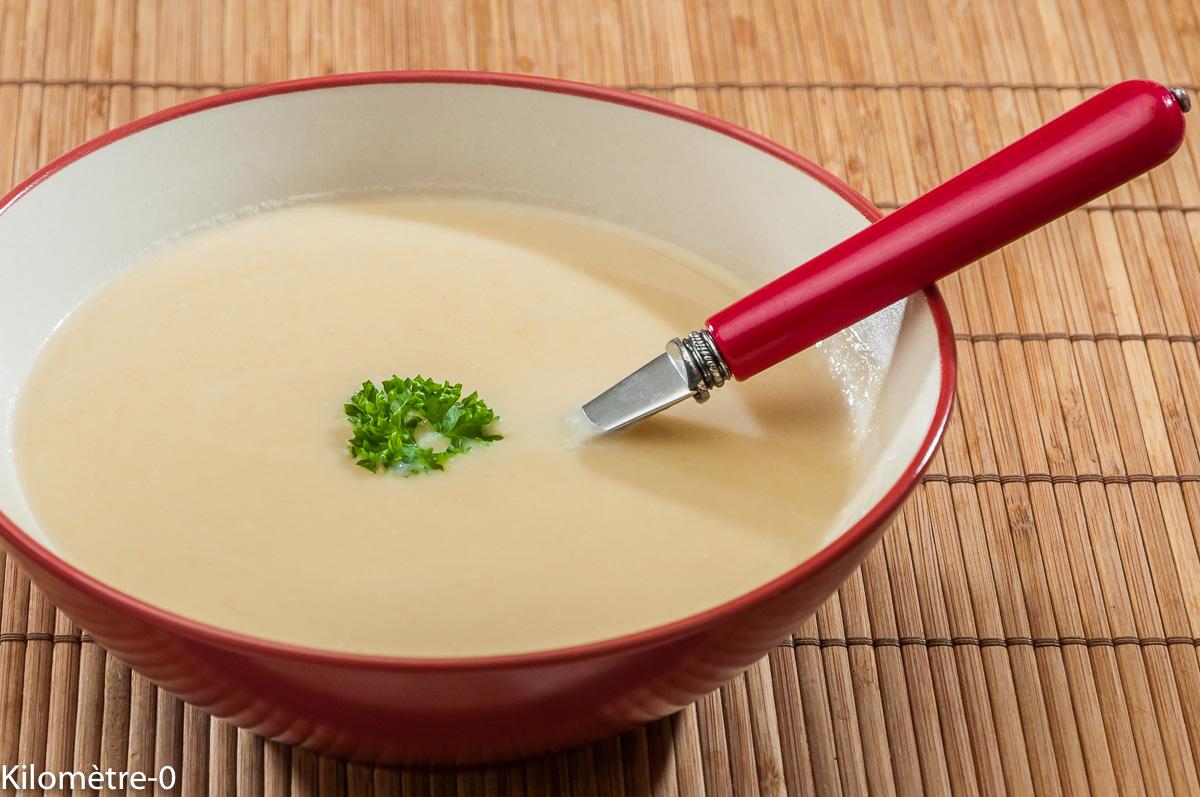 Photo de recette de potage, velouté, légumes, soupe, oignons, bio, végétarienne, traditionnelle, classique, bio de Kilomètre-0, blog de cuisine réalisée à partir de produits locaux et issus de circuits courts