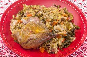 Photo de recette de pintade, chou, lardons, carottes, de Kilomètre-0, blog de cuisine réalisée à partir de produits locaux et issus de circuits courts