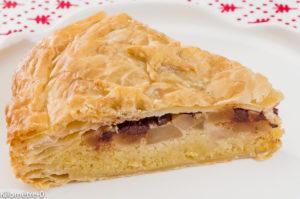 Photo de recette de galette des rois, poire, chocolat de  Kilomètre-0, blog de cuisine réalisée à partir de produits locaux et issus de circuits courts