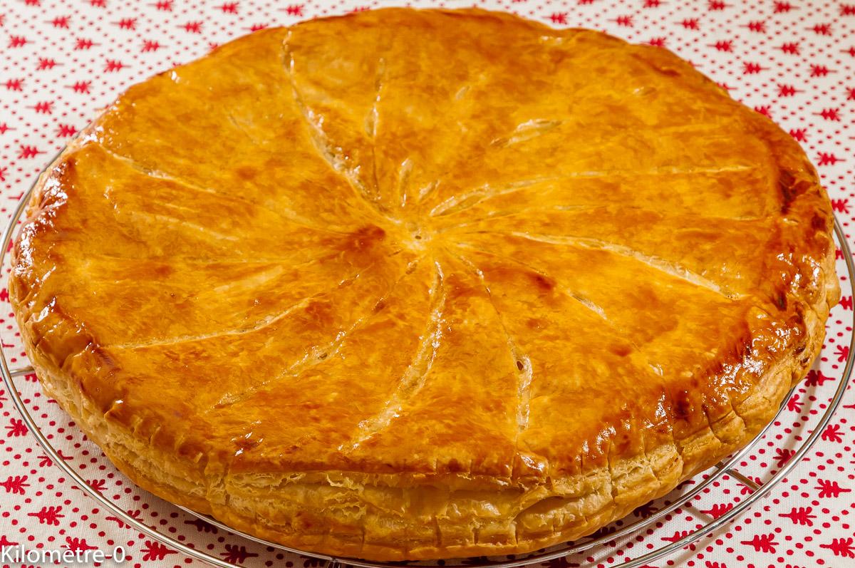 Photo de recette de galette des rois, marrons, amandes de Kilomètre-0, blog de cuisine réalisée à partir de produits locaux et issus de circuits courts