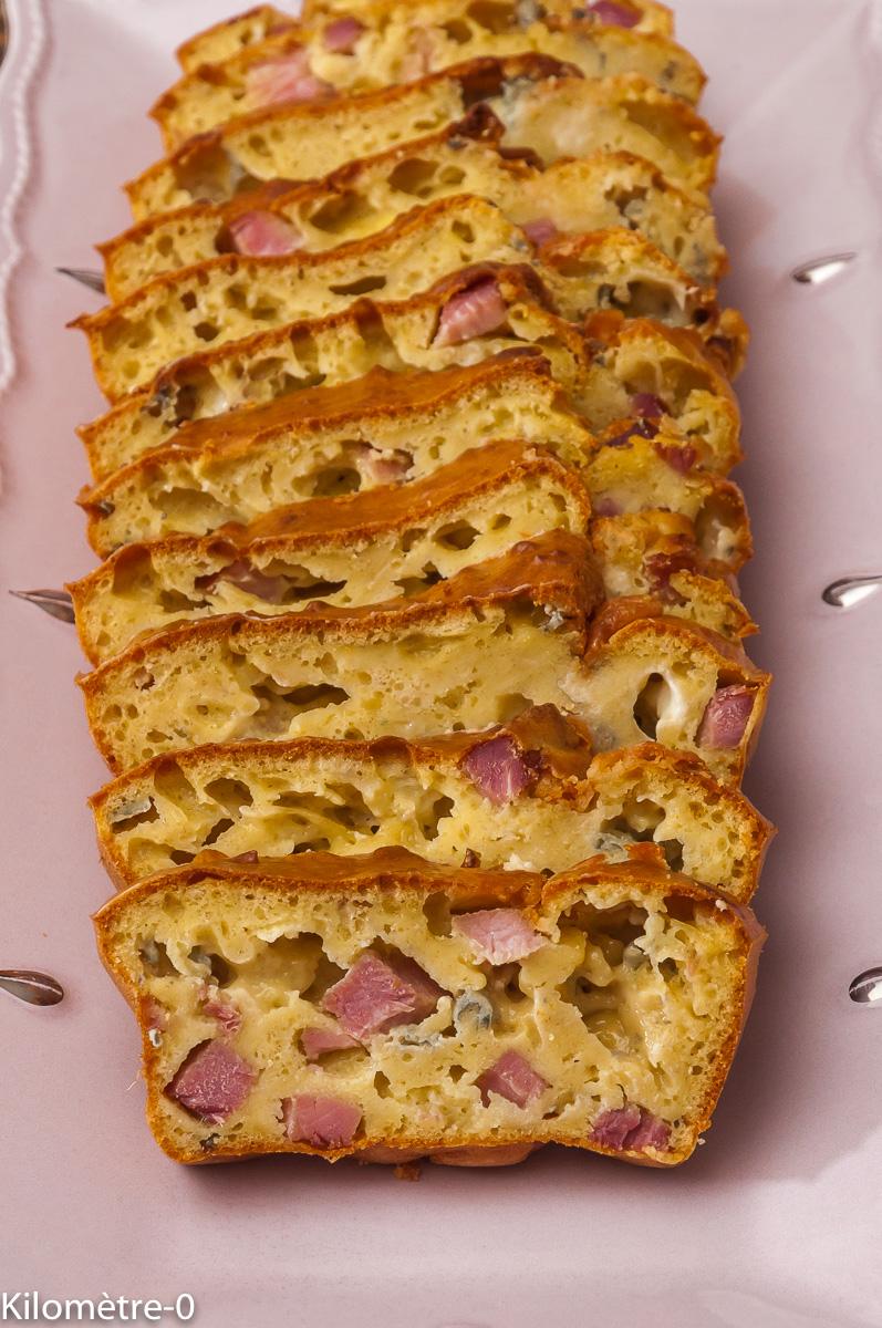 Photo de recette de cake, jambon, fourme d'Ambert, fromage, apéro facile de Kilomètre-0, blog de cuisine réalisée à partir de produits locaux et issus de circuits courts