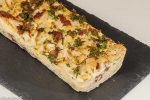 Photo de recette de terrine de chou fleur, facile,  de  Kilomètre-0, blog de cuisine réalisée à partir de produits locaux et issus de circuits courts