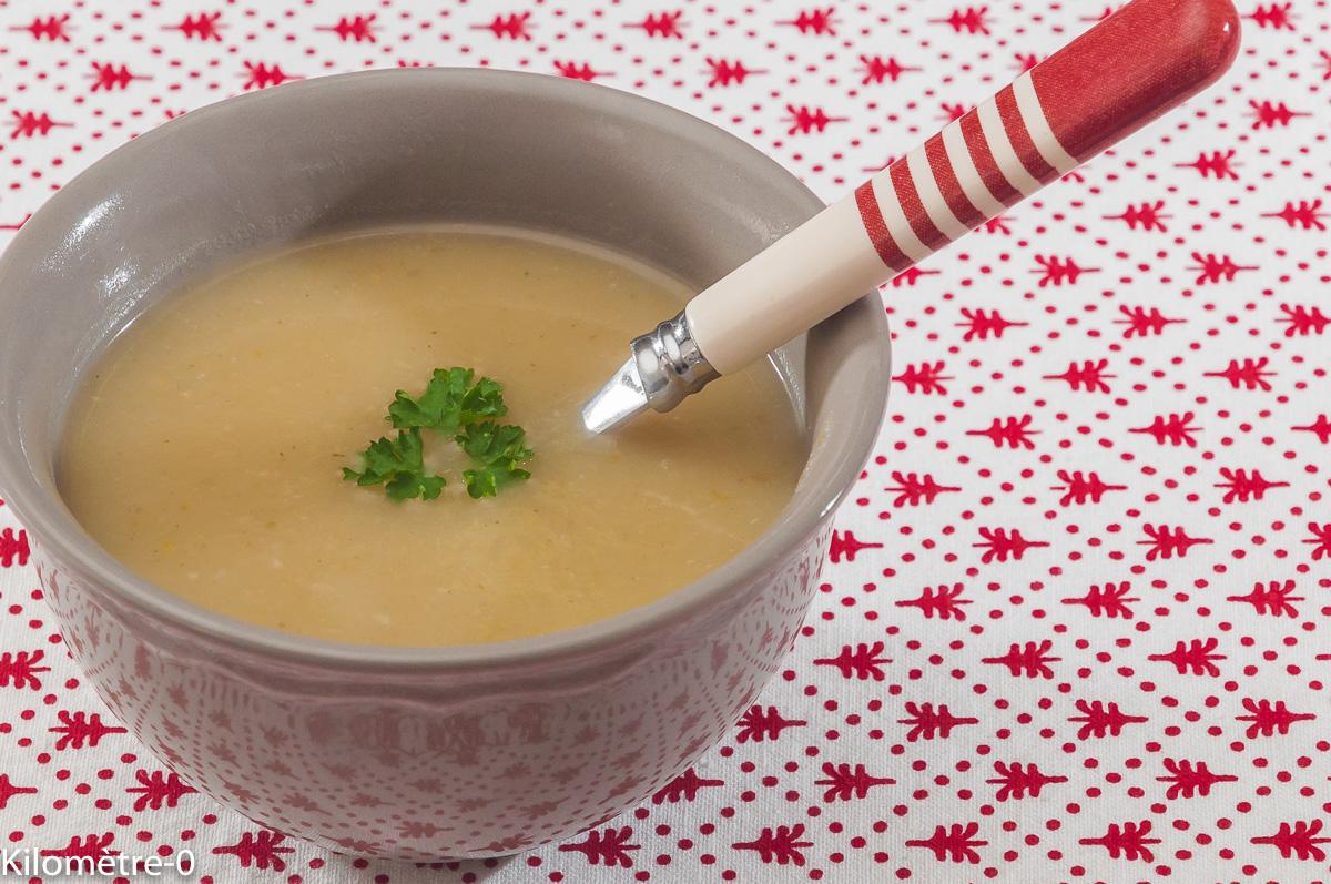 Photo de recette de soupe de navets, céleri de Kilomètre-0, blog de cuisine réalisée à partir de produits locaux et issus de circuits courts