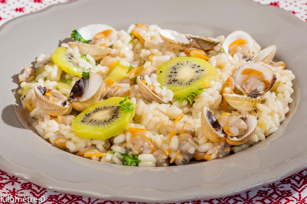 Photo de recette de risotto, kiwis coques de Kilomètre-0, blog de cuisine réalisée à partir de produits locaux et issus de circuits courts