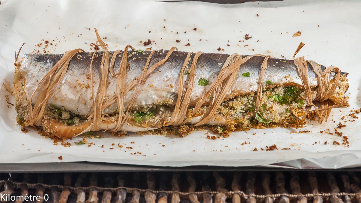 Photo de recette de saumon farci de  Kilomètre-0, blog de cuisine réalisée à partir de produits locaux et issus de circuits courts