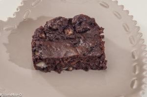 Photo de recette de brownies facile, léger de  Kilomètre-0, blog de cuisine réalisée à partir de produits locaux et issus de circuits courts
