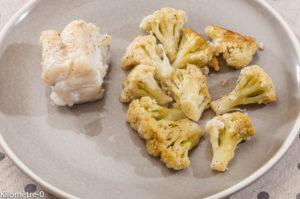 Photo de recette de lotte au chou fleur et à la vanille de Kilomètre-0, blog de cuisine réalisée à partir de produits locaux et issus de circuits courts