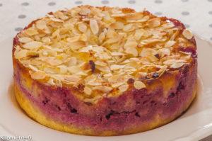 Photo de recette de gâteau, facile, polenta, framboises de Kilomètre-0, blog de cuisine réalisée à partir de produits locaux et issus de circuits courts