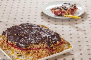 Photo de recette de barres de céréales, chocolat, framboises, petit déjeuner maison de Kilomètre-0, blog de cuisine réalisée à partir de produits locaux et issus de circuits courts