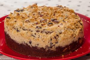 Photo de recette de  crumbcake facile Kilomètre-0, blog de cuisine réalisée à partir de produits locaux et issus de circuits courts