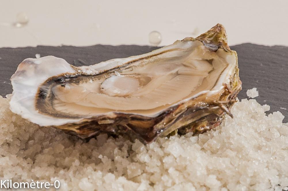 Photo de recette d'huitre, yuzu, perles de saveurs de Kilomètre-0, blog de cuisine réalisée à partir de produits locaux et issus de circuits courts