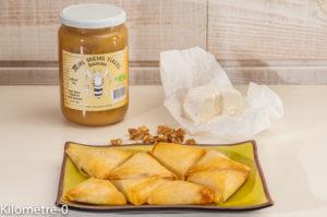 Photo de recette de brik, facile, chèvre, fromage, noix, miel de Kilomètre-0, blog de cuisine réalisée à partir de produits locaux et issus de circuits courts