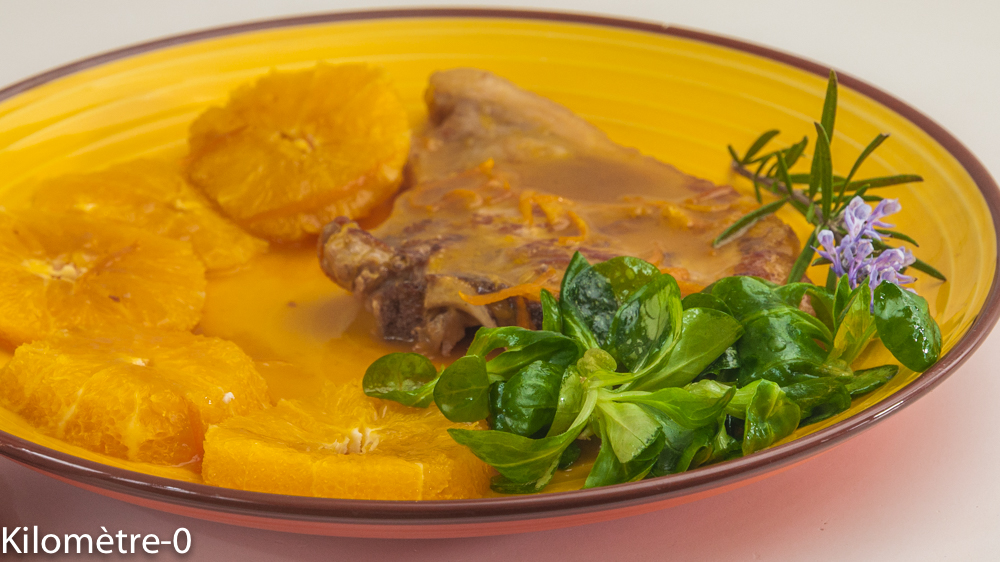 Photo de recette de côte de veau à l'orange, facile, rapide de  Kilomètre-0, blog de cuisine réalisée à partir de produits locaux et issus de circuits courts