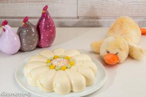 Photo de recette de mousse, bavarois, citron, Pâques, dessert de Kilomètre-0, blog de cuisine réalisée à partir de produits locaux et issus de circuits courts