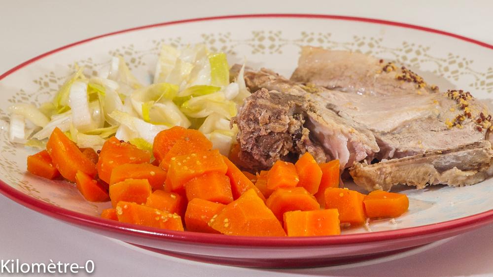Photo de recette de longe de porc, carottes, facile, Kilomètre-0, blog de cuisine réalisée à partir de produits locaux et issus de circuits courts