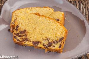 Photo de recette de  gâteau du matin, chocolat, polenta, énergétique de Kilomètre-0, blog de cuisine réalisée à partir de produits locaux et issus de circuits courts