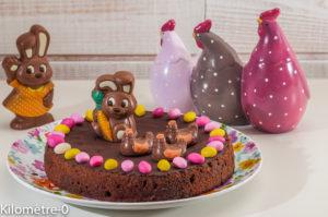 Photo de recette de gâteau de Pâques, facile, enfant, dessert, chocolat, fondant, léger, rapide, cocos de Pâques, moulage de Kilomètre-0, blog de cuisine réalisée à partir de produits locaux et issus de circuits courts