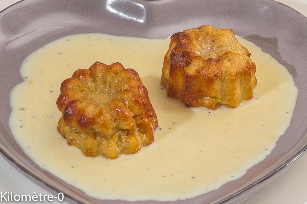 Photo de recette de cannelés, facile, crème anglaise, de Kilomètre-0, blog de cuisine réalisée à partir de produits locaux et issus de circuits courts