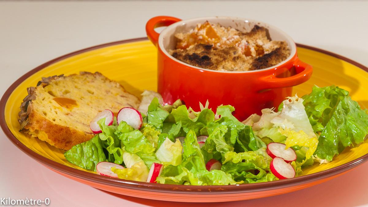 Photo de recette de crumble, potimarron, épices de  Kilomètre-0, blog de cuisine réalisée à partir de produits locaux et issus de circuits courts