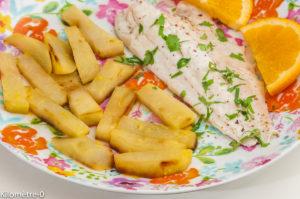 Photo de recette de bar, chou rave de Kilomètre-0, blog de cuisine réalisée à partir de produits locaux et issus de circuits courts