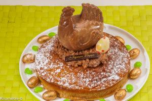 Photo de recette de gâteau au café facile, Pâques de Kilomètre-0, blog de cuisine réalisée à partir de produits locaux et issus de circuits courts