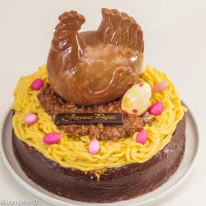 Photo de recette de gâteau au café, Pâques, anniversaire, fête de Kilomètre-0, blog de cuisine réalisée à partir de produits locaux et issus de circuits courts