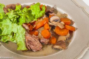 Photo de recette d'estouffade de veau, facile, légumes, carottes, fenouil, champignons de  Kilomètre-0, blog de cuisine réalisée à partir de produits locaux et issus de circuits courts