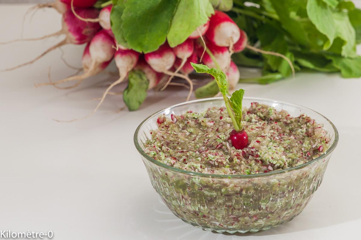 Photo de recette de beurre de radis, bio de Kilomètre-0, blog de cuisine réalisée à partir de produits locaux et issus de circuits courts