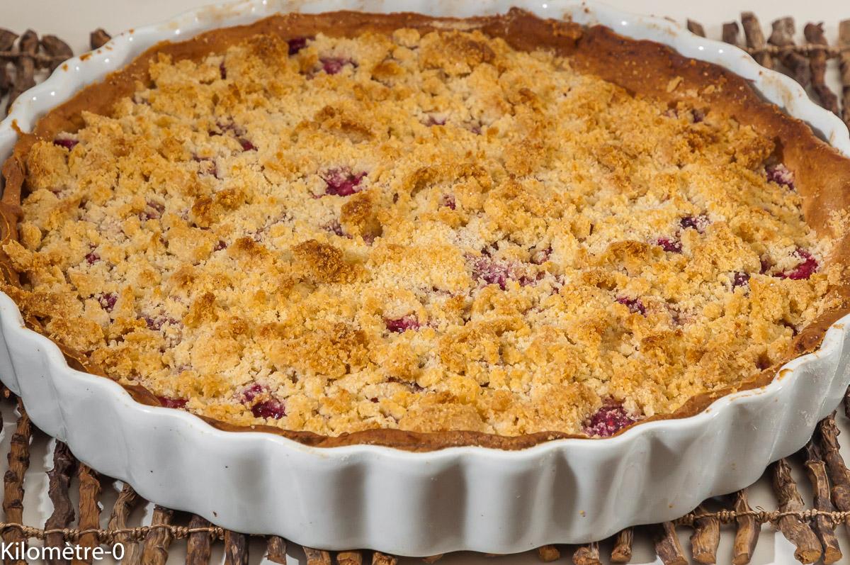 Photo de recette de tarte, crumble, framboises, fruits rouges, facile de  Kilomètre-0, blog de cuisine réalisée à partir de produits locaux et issus de circuits courts
