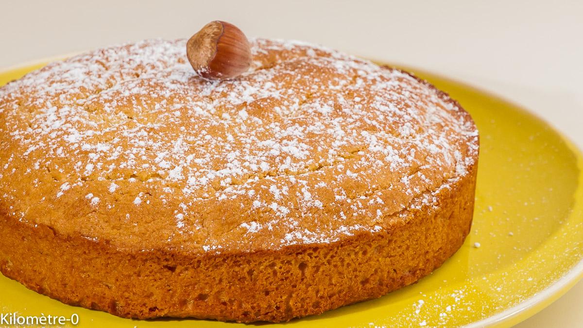 Photo de recette de gâteau aux nisettes, facile de  Kilomètre-0, blog de cuisine réalisée à partir de produits locaux et issus de circuits courts