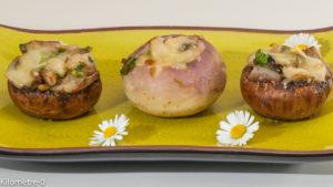 Photo de recette végétarienne, de légumes farcis, champignons, navets, printanières de Kilomètre-0, blog de cuisine réalisée à partir de produits locaux et issus de circuits courts