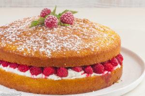 Photo de recette de gâteau, framboises, facile, rapide, ricotta, léger, anniversaire, beau, fête de Kilomètre-0, blog de cuisine réalisée à partir de produits locaux et issus de circuits courts