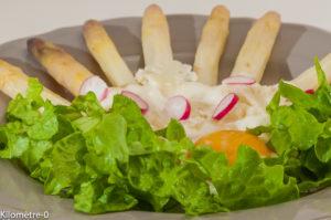 Photo de recette d'asperges blanches, chou fleur de  Kilomètre-0, blog de cuisine réalisée à partir de produits locaux et issus de circuits courts
