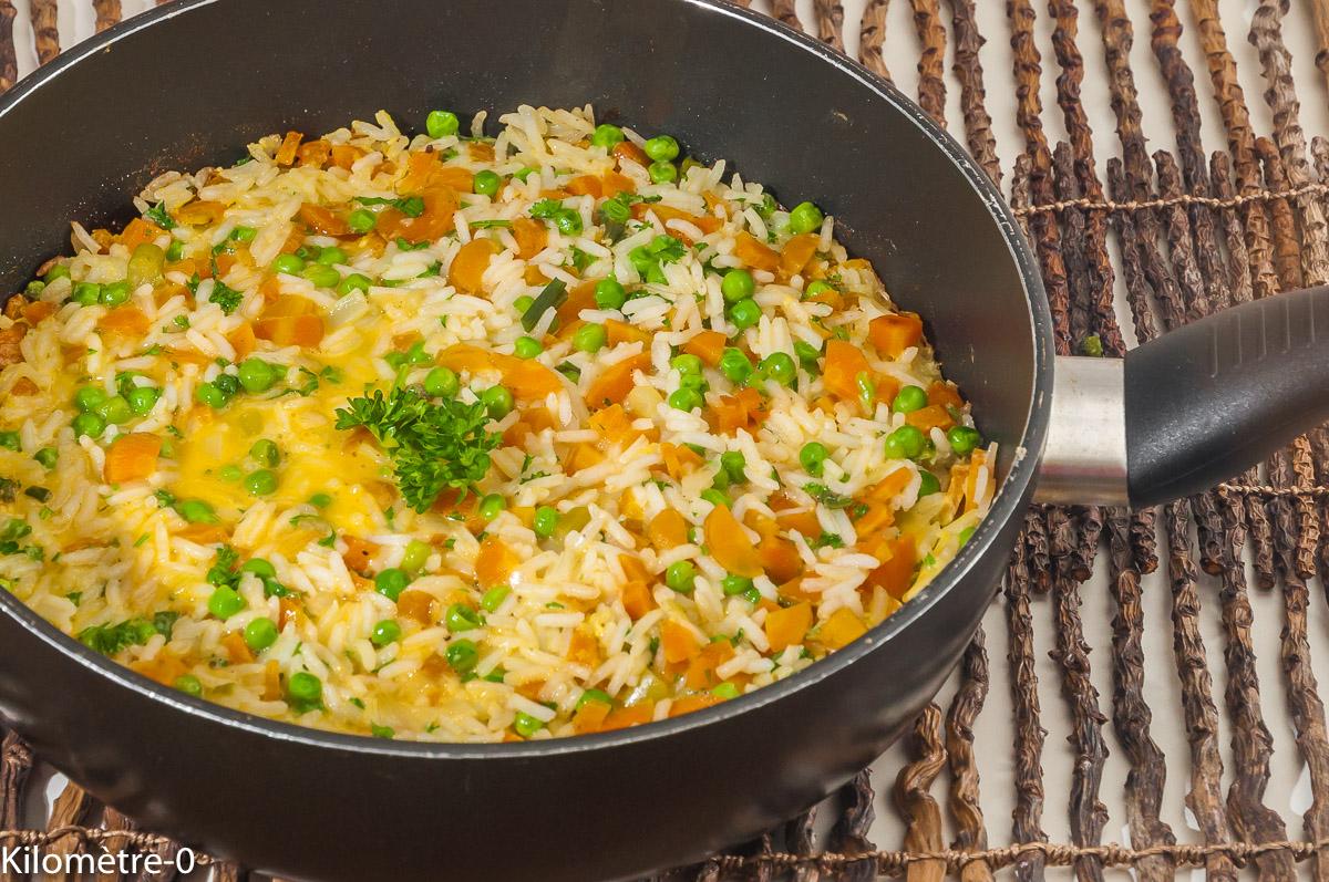 Photo de recette de  frittata, riz, légumes, bio, facile, rapide de Kilomètre-0, blog de cuisine réalisée à partir de produits locaux et issus de circuits courts