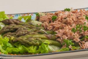Photo de recette de salade d'asperges vertes, thon, salade verte, facile, printemps, légumes, rapide  Kilomètre-0, blog de cuisine réalisée à partir de produits locaux et issus de circuits courts