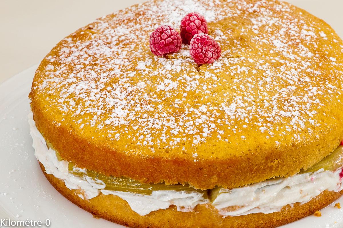 Photo de recette de dessert, gâteau, patisserie, facile, rapide, rhubarbe, ricotta, de Kilomètre-0, blog de cuisine réalisée à partir de produits locaux et issus de circuits courts
