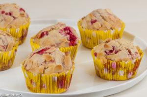 Photo de recette de muffins facile, framboises, fruits rouges, bio , légers de Kilomètre-0, blog de cuisine réalisée à partir de produits locaux et issus de circuits courts