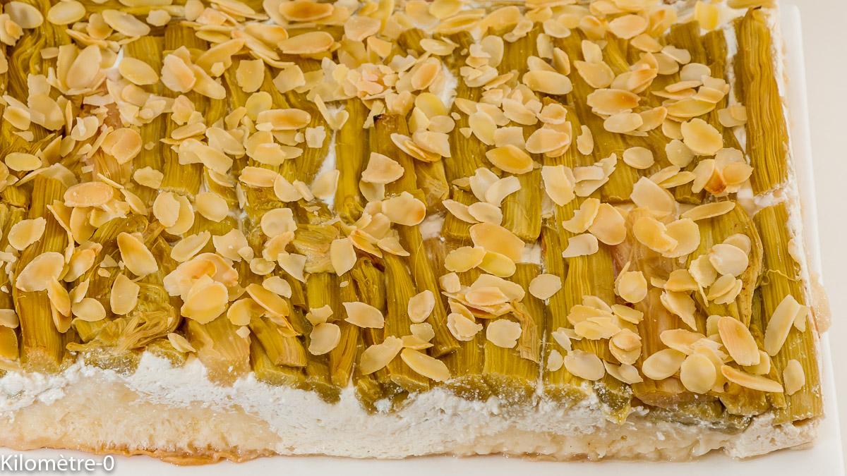 Photo de recette de gâteau briioché à la rhubarbe, brioche, amandes de  Kilomètre-0, blog de cuisine réalisée à partir de produits locaux et issus de circuits courts