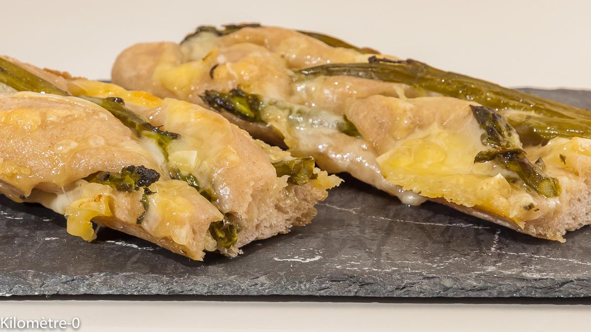 Photo de recette de baguette, raclette, asperges, apéro, pain, Kilomètre-0, blog de cuisine réalisée à partir de produits locaux et issus de circuits courts