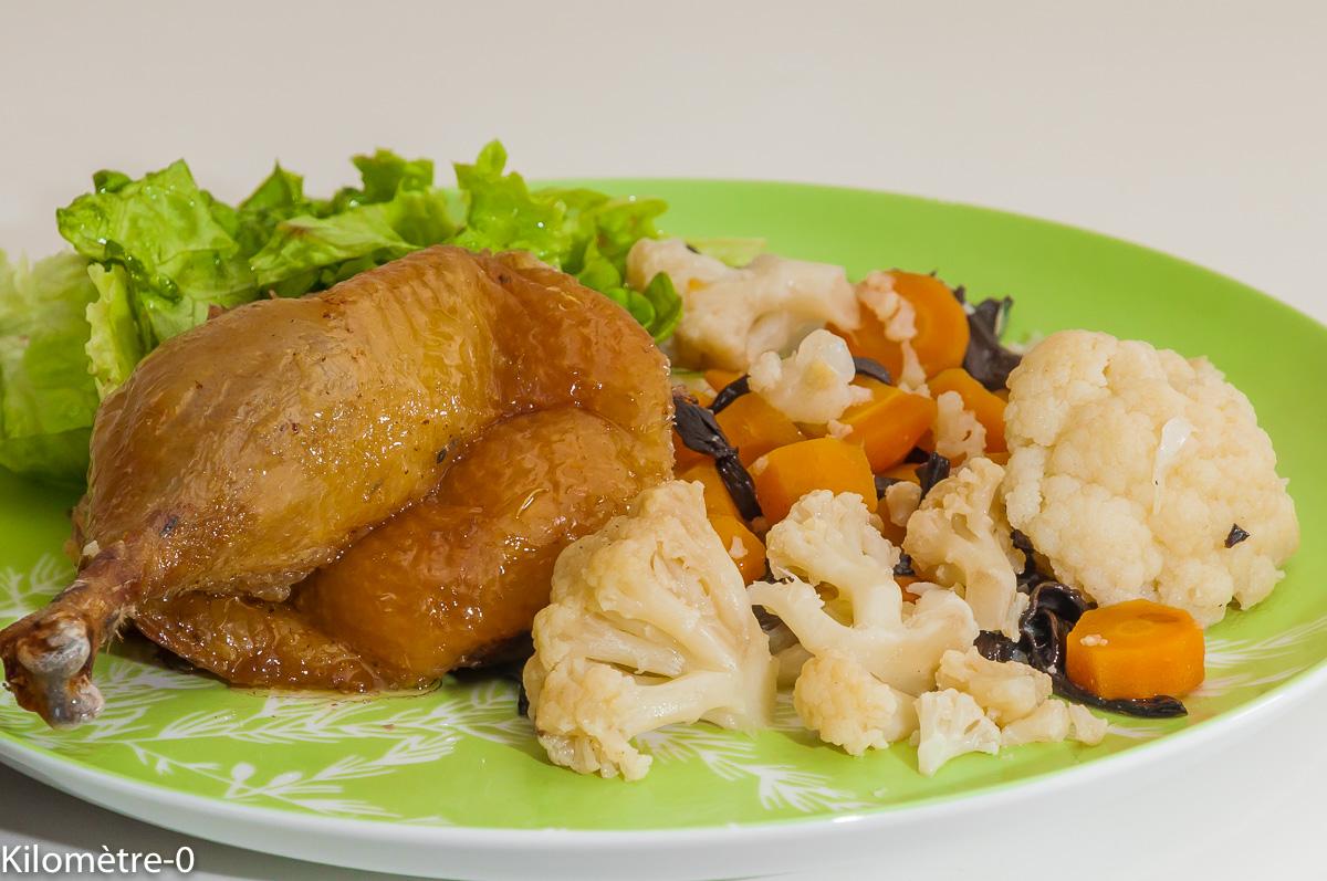 Photo de recette de canard aux légumes nouveaux de printemps, volaille rôtie, douce température, Kilomètre-0, blog de cuisine réalisée à partir de produits locaux et issus de circuits courts