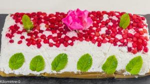 Photo de recette de mousse aux fruits rouges, rhubarbe, dessert, terrine, facile, léger, rapide,  Kilomètre-0, blog de cuisine réalisée à partir de produits locaux et issus de circuits courts