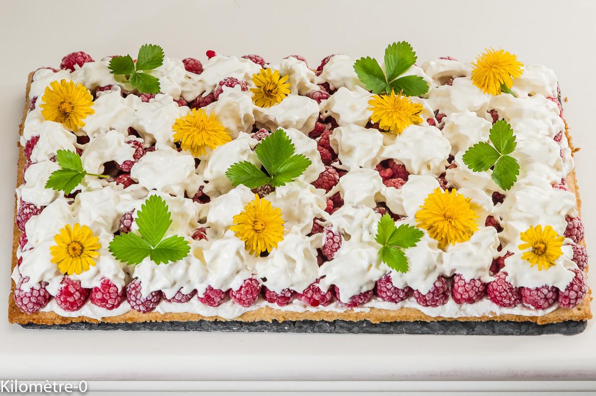 Photo de recette de dessert aux fruits rouges, framboises, sablés, facile, anniversaire, rapide, chantilly Kilomètre-0, blog de cuisine réalisée à partir de produits locaux et issus de circuits courts