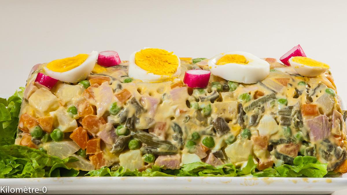 Photo de recette russe, salade russe, four vapeur, Kilomètre-0, blog de cuisine réalisée à partir de produits locaux et issus de circuits courts