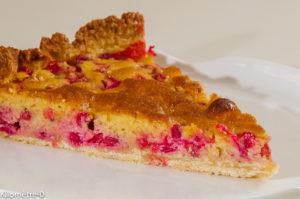 Photo de recette de tarte facile aux groseilles, bio de Kilomètre-0, blog de cuisine réalisée à partir de produits locaux et issus de circuits courts