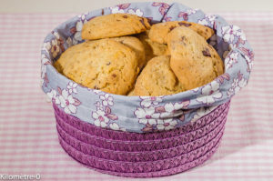 Photo de recette de cookies, muesli, chocolat, facile de Kilomètre-0, blog de cuisine réalisée à partir de produits locaux et issus de circuits courts